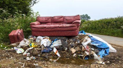 15% of farmers affected by illegal rubbish dumping