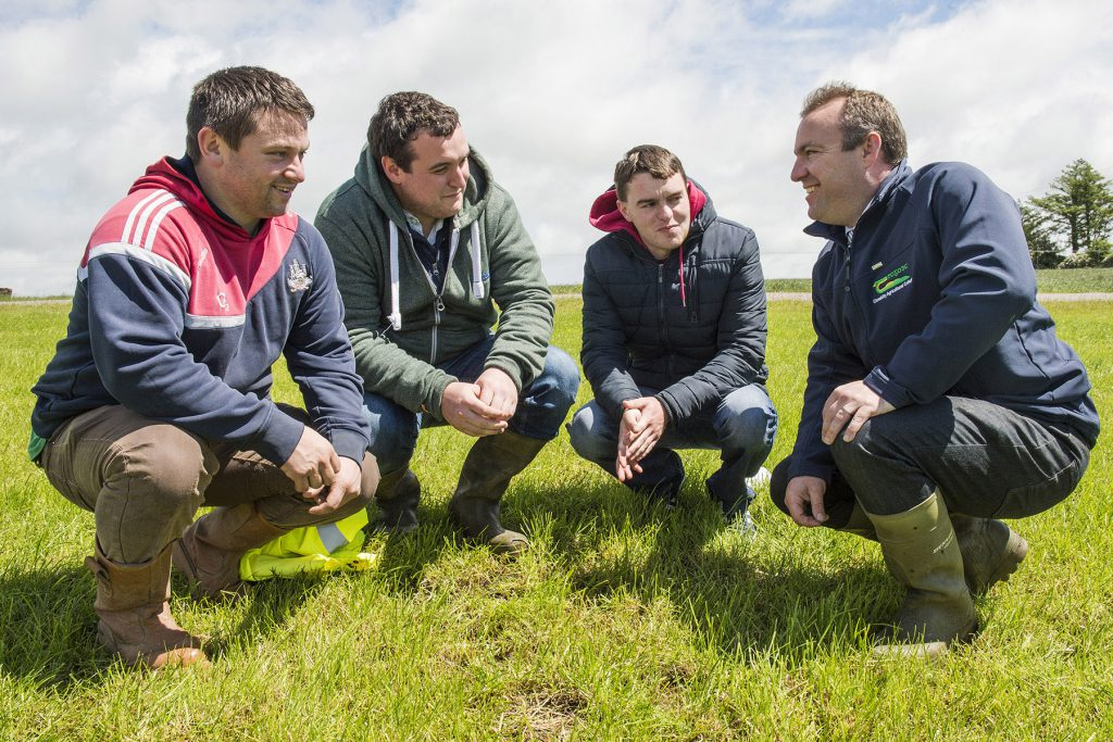 Pictured at a dairy open day in Clonakilty Agricultural College are Michael Leonard, Churchcross, Owen Doyle, Ian O'Connor, Killarney & Keith Kennedy, Vice Principal. The objective of the Open Day was to provide an update on the research that has been undertaken in Clonakilty Agricultural College over the last 3 years. Photo O'Gorman Photography.