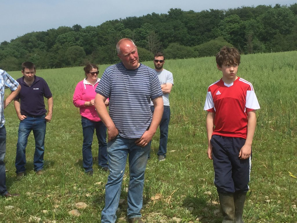 Gavin Tully and his son Jack pictured at Wednesday's farm walk