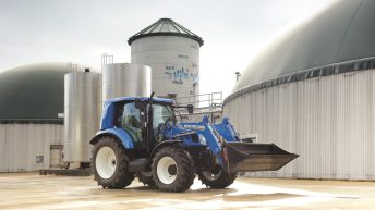 New Holland unveil new methane powered tractor at Cereals 2016