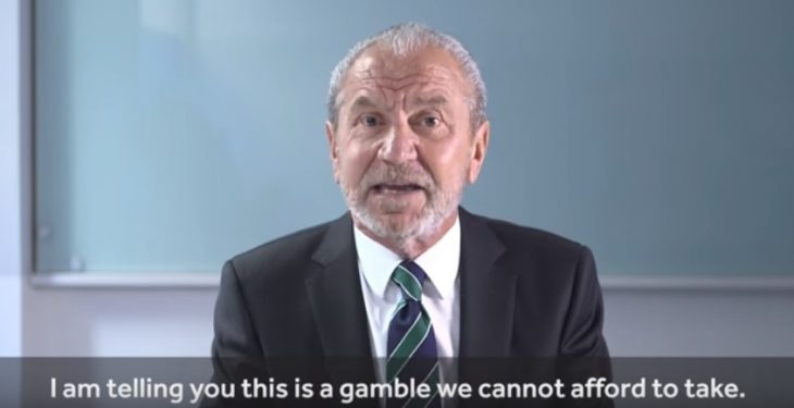 Brexit a gamble the UK cannot afford to take – Lord Alan Sugar