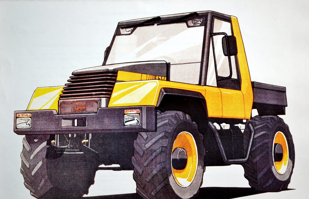1989 - an early concept sketch of the Fastrac as the product begins to take shape