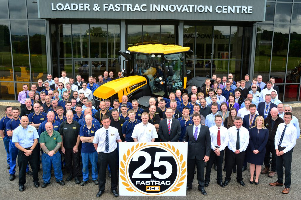 2016 - employees celebrate 25 years of Fastrac production