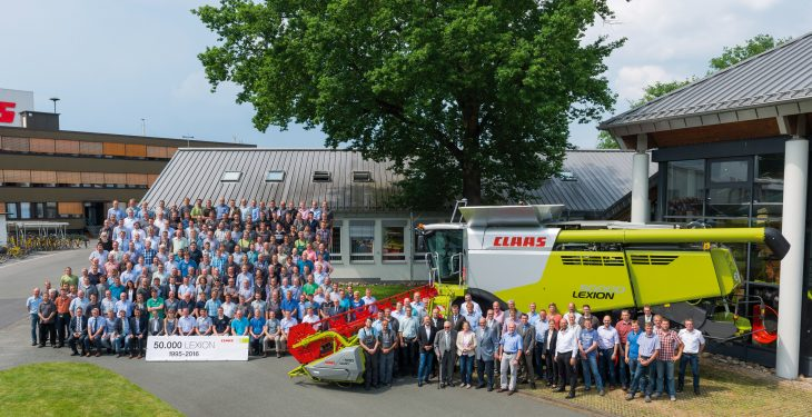 Claas marks major landmark as the 50,000th Lexion combine rolls off the line