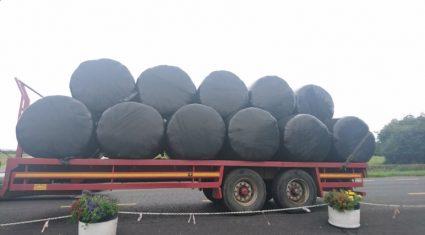 Gardai warn farmers drawing bales on the road