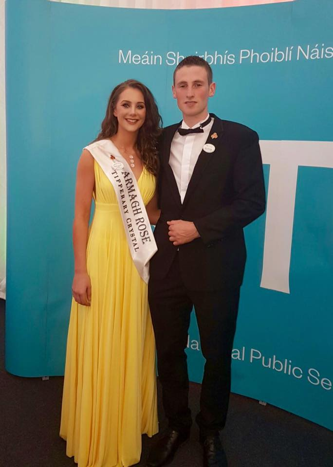 Armagh Rose Meabh Lenehan with John Finnerty