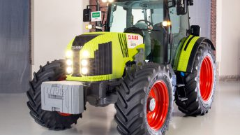 A full-scale Claas tractor has been built out of 800,000 Lego bricks