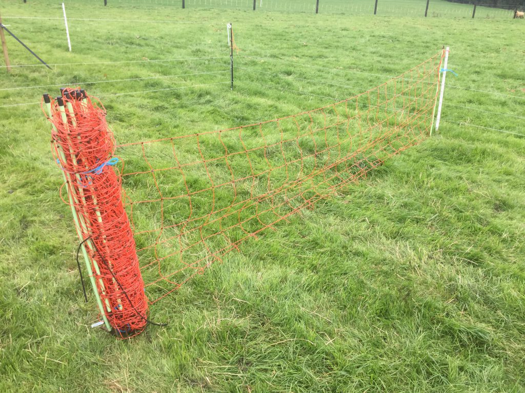 Electric sheep netting costs €1.90/m