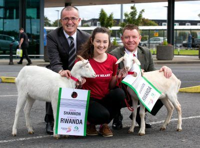 L-R Niall Maloney, Shannon Airport Director of Operations, Sophie Hayes, Bothar Volunteer and Dave Moloney, CEO Bothar. Pic Arthur Ellis.