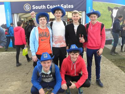 Students from Ballybunnion, Co. Kerry enjoying the first day of the Ploughing.