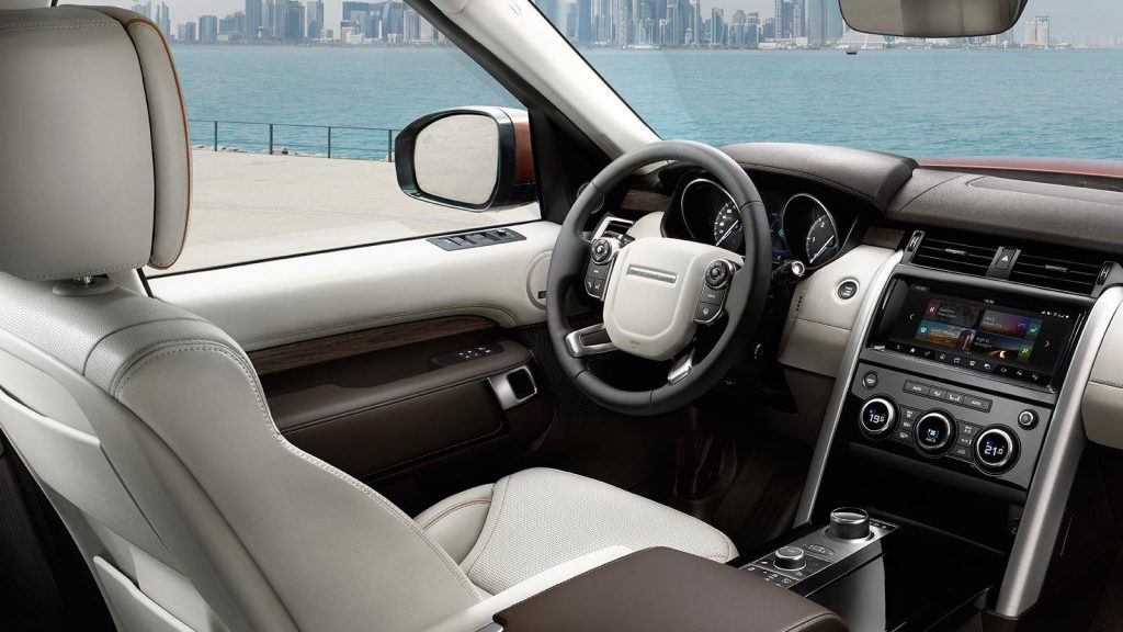 The new 2016 land rover discovery interior