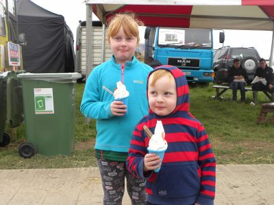 ploughing, ice cream,