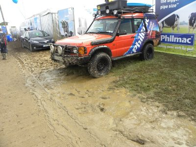 Mucky patches beginning to appear already at the Ploughing.