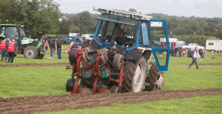 Jer Coakley in action at the European Reversible Ploughing Championships Source: Facebook