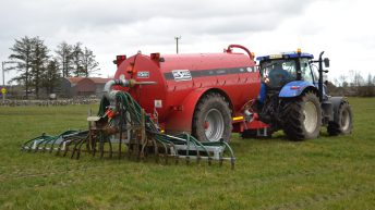 Farmers found to breach slurry spreading deadline could face a hefty fine