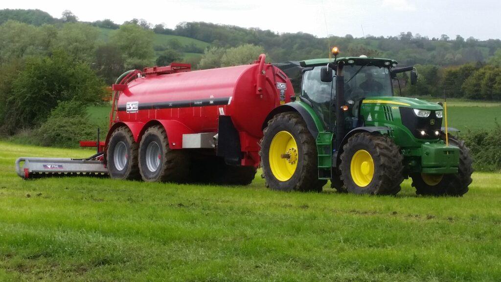tractor, Hi-Spec slurry (vacuum) tanker