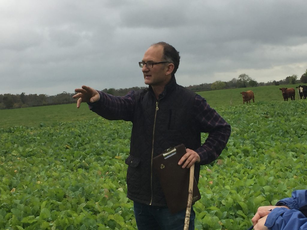 Ken Gill speaking at the farm walk