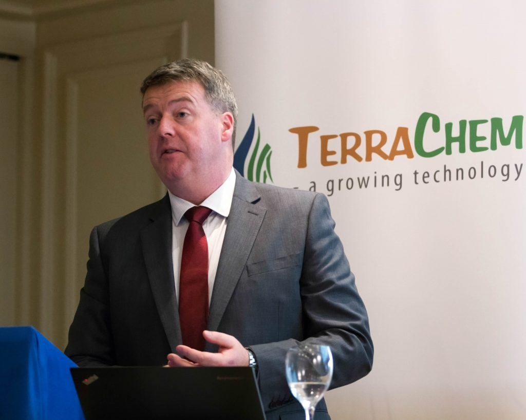 Gary Beirne, TerraChem Director, speaks at the conference. TerraChem - Killashee Hotel - October 20th 2016. Photo: Paul Jones/www.meathphotos.com
