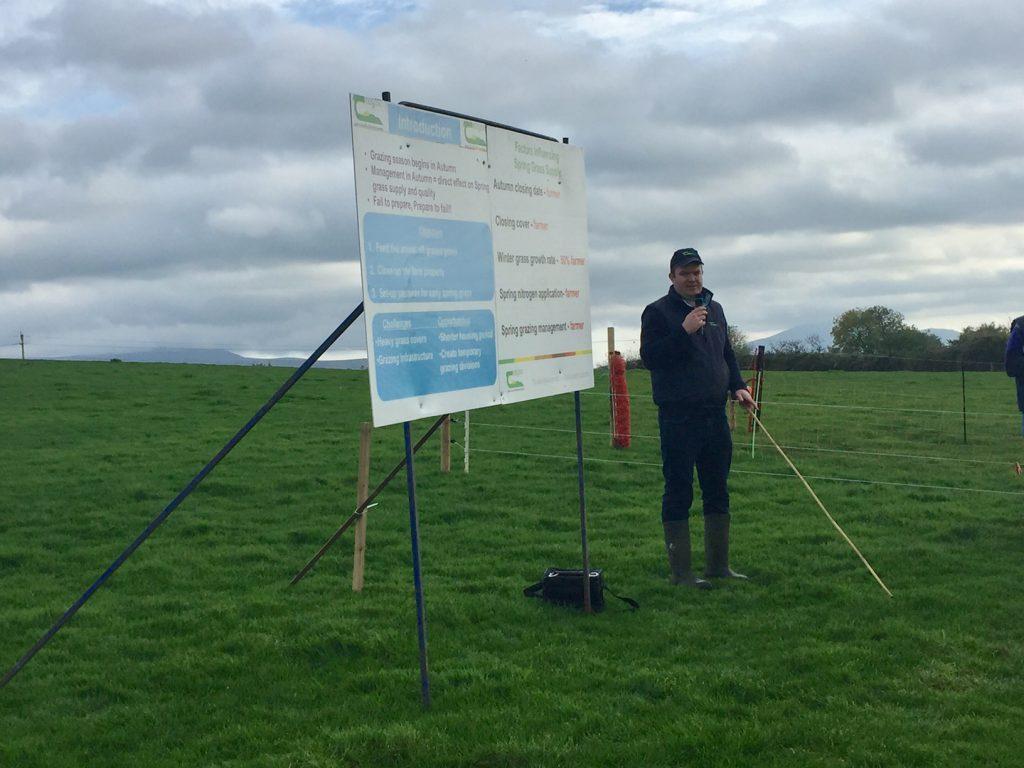 Teagasc's Philip Creighton speaking at the farm walk