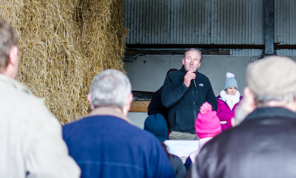 Tom Vaughan speaking at Thursday's open day