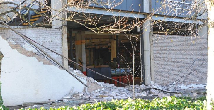Mini tornado damages JCB world headquarters