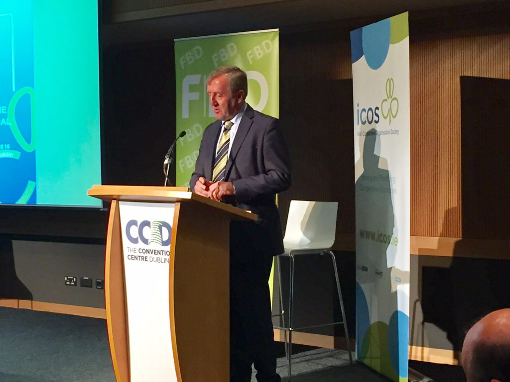 Minister Michael Creed closing the ICOS conference