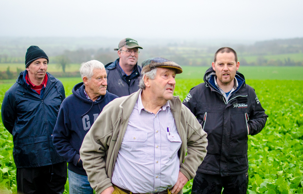 Mervyn Sunderland (centre) pictured along side his brother George (left) and Agricultural Consultant Simon Byrne (right)