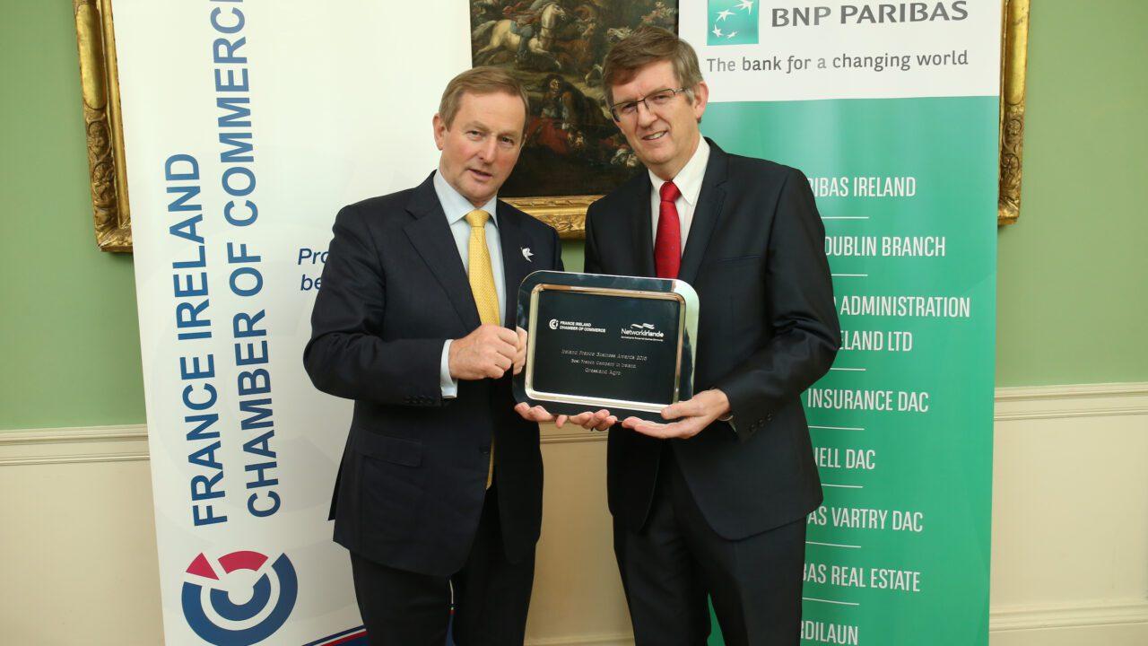 Grassland Agro wins top award at 2016 Ireland France Business Awards