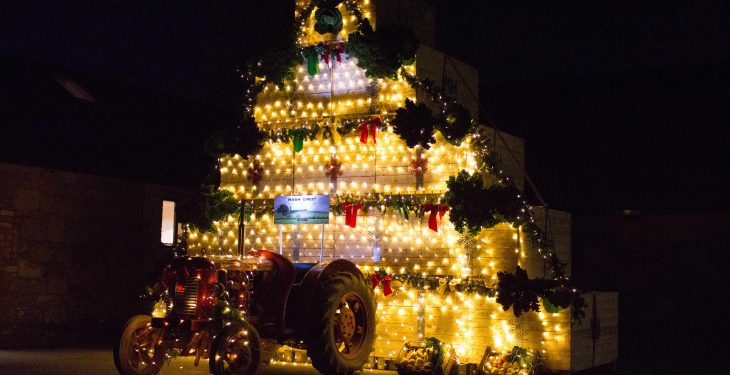 A Christmas tree with a difference to celebrate harvest 2016