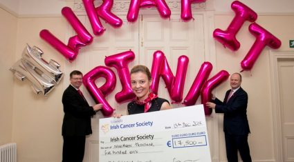 €17,500 raised for Irish Cancer Society through pink bale wrap campaign