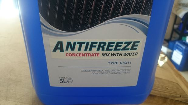 Antifreeze is available from most motor factors and tractor dealers