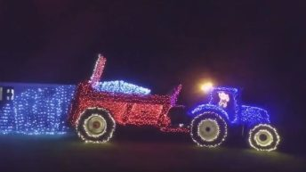Video: Over 3,500 lights used to create Christmas farming display