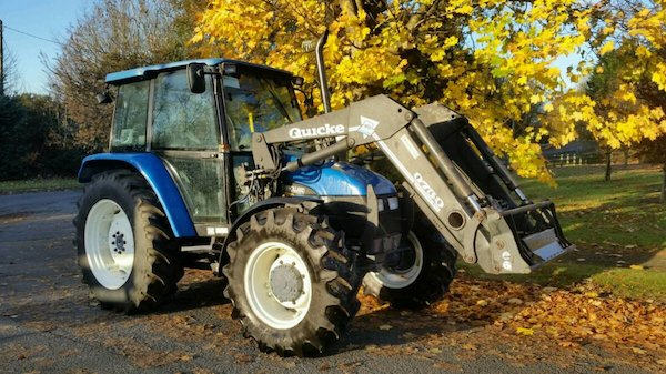 New Holland 6635 with Quicke Q750 loader - Source: Donedeal