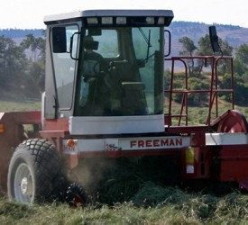 Have you ever seen a self-propelled 'small' square baler?