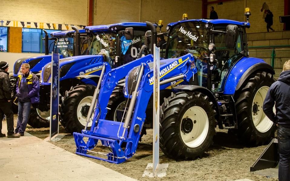 Fintona farm machinery show New Holland tractors