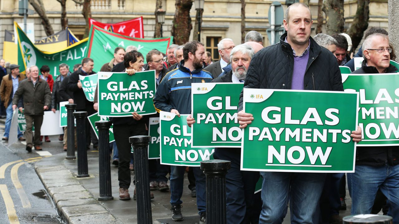 'Outstanding 85% GLAS payments will be completed by the end of April'