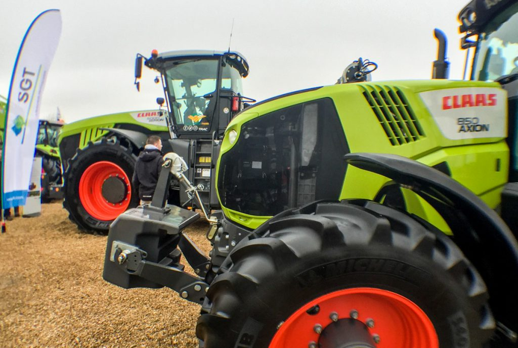 Claas tractors at LAMMA 2017 farm machinery show