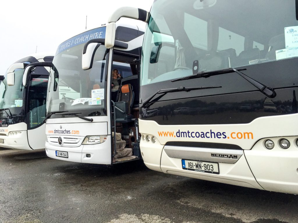 Coach (bus) at LAMMA 2017 (farm machinery show)