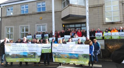 Pics: Over 200 INHFA members protest over the delay in GLAS payments