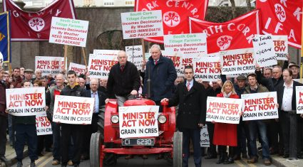 Pics: IFA protest for a crisis fund for grain growers