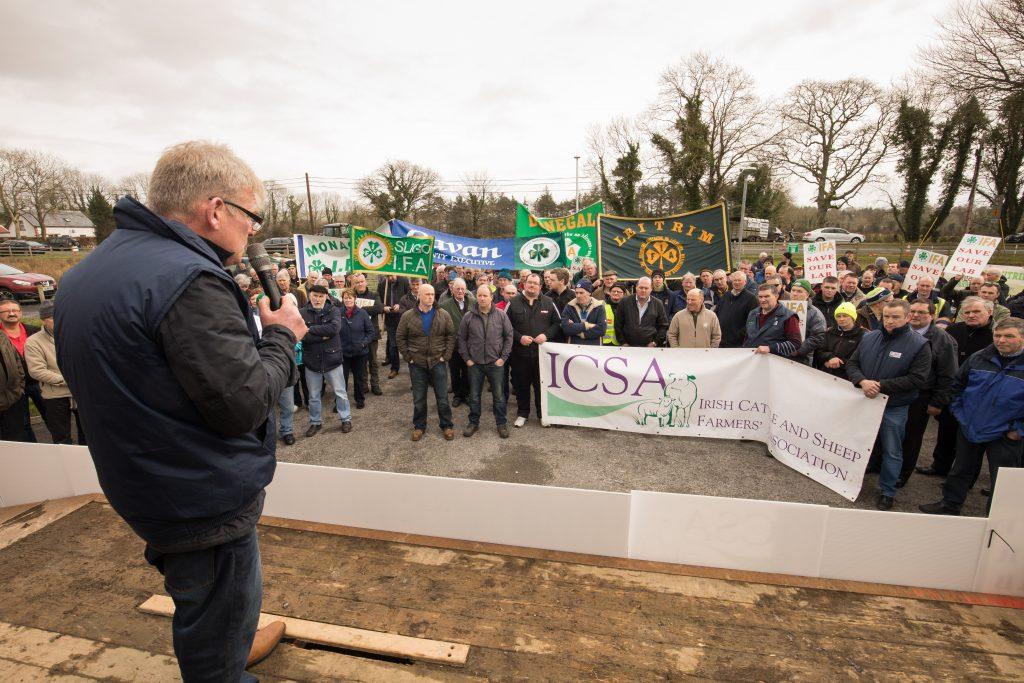 Gabriel Gilmartin at RVL protest in Sligo