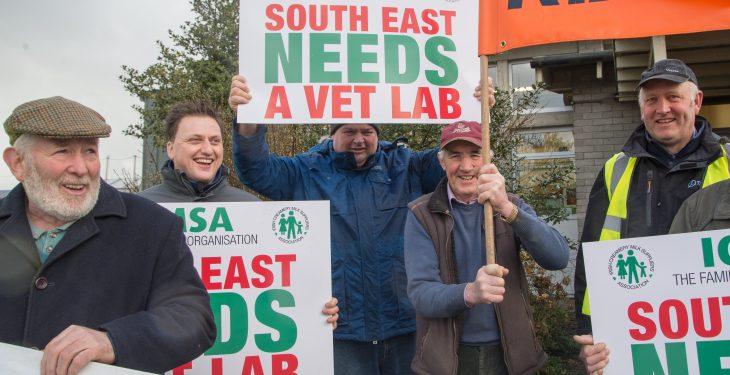 Pics: ICMSA protests against the threatened closure of Regional Vet Lab