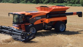 Video: 'Revolutionary' articulated combine gets a boost, to 650hp