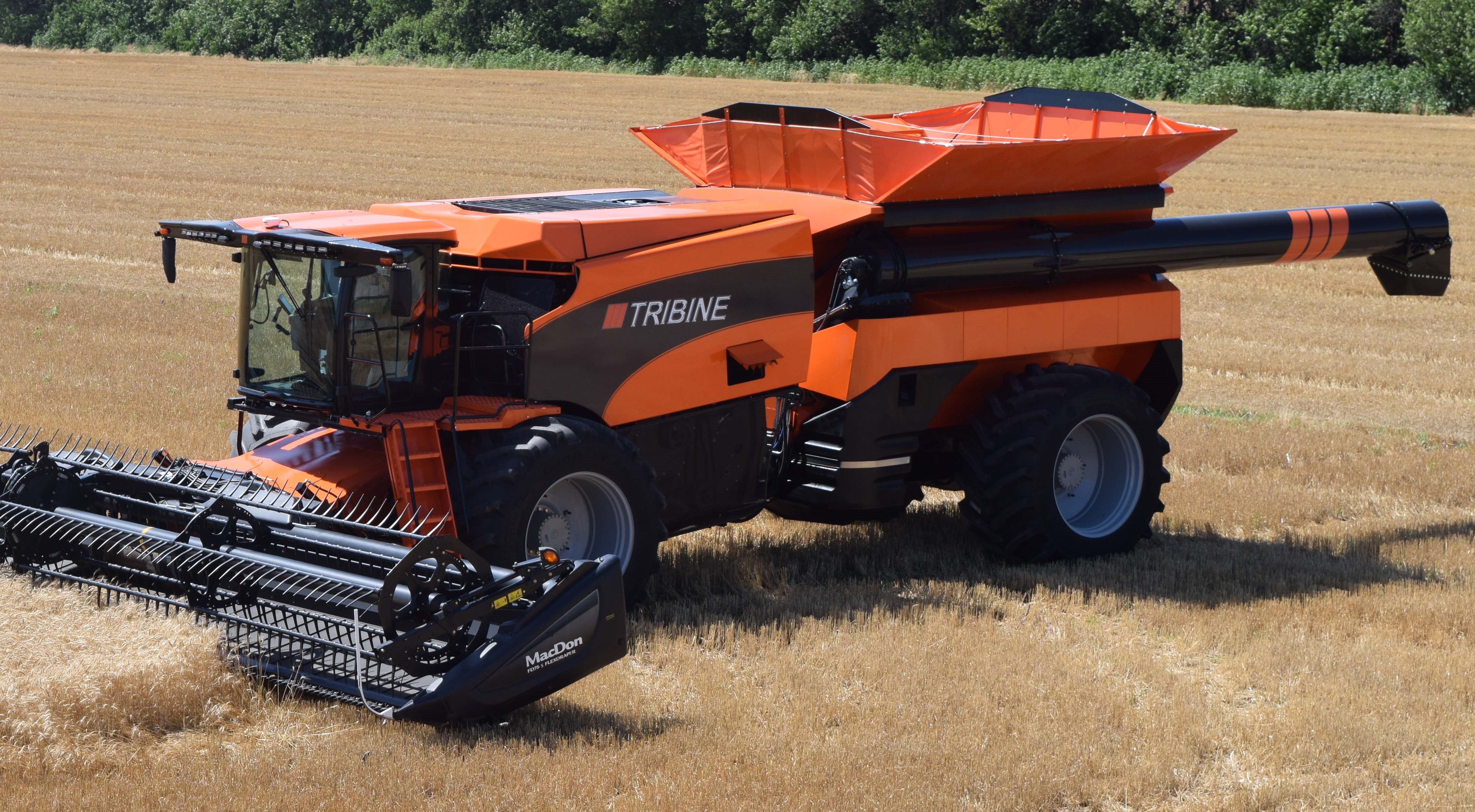 Video: 'Revolutionary' articulated combine gets a boost