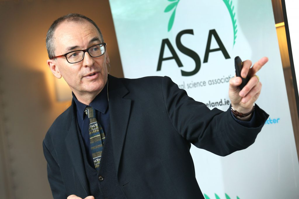 "Dr. Matthew Crowe, Director of the Office of Evidence and Assessment at the Environmental Protection Agency (EPA) delivered the keynote address at the The ""Addressing Climate Change in Irish Agriculture"" conference, organised by the ASA. Picture: Finbarr O'Rourke"