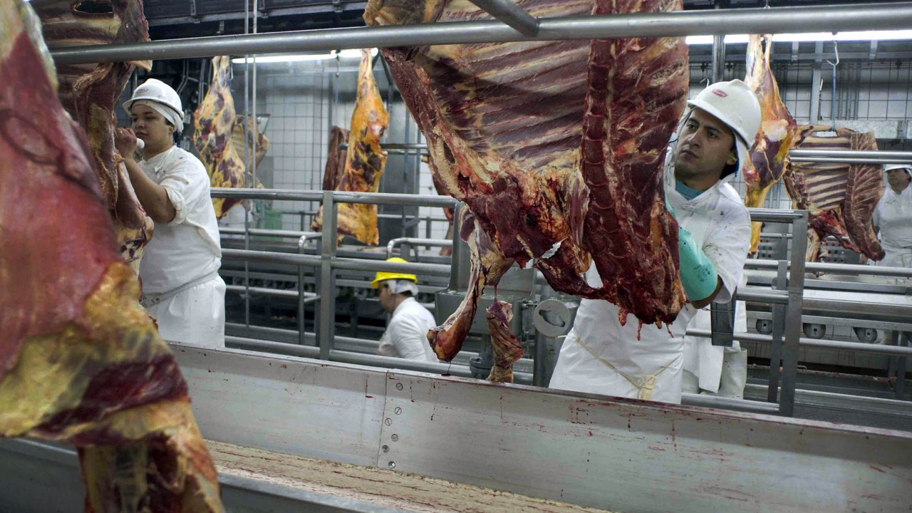 Brazilian meat plant inspectors protest amidst meeting over US beef ban