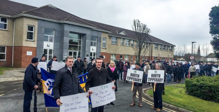 INHFA backs Tipperary farmers protesting against 'over-zealous' inspections