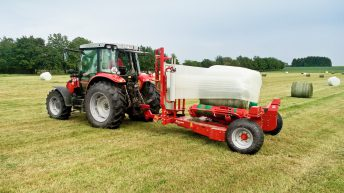 How to make a bale wrapper turn faster…without the bale falling off