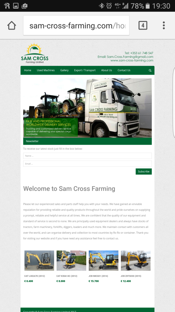 Liveline Sam Cross Farming Limited