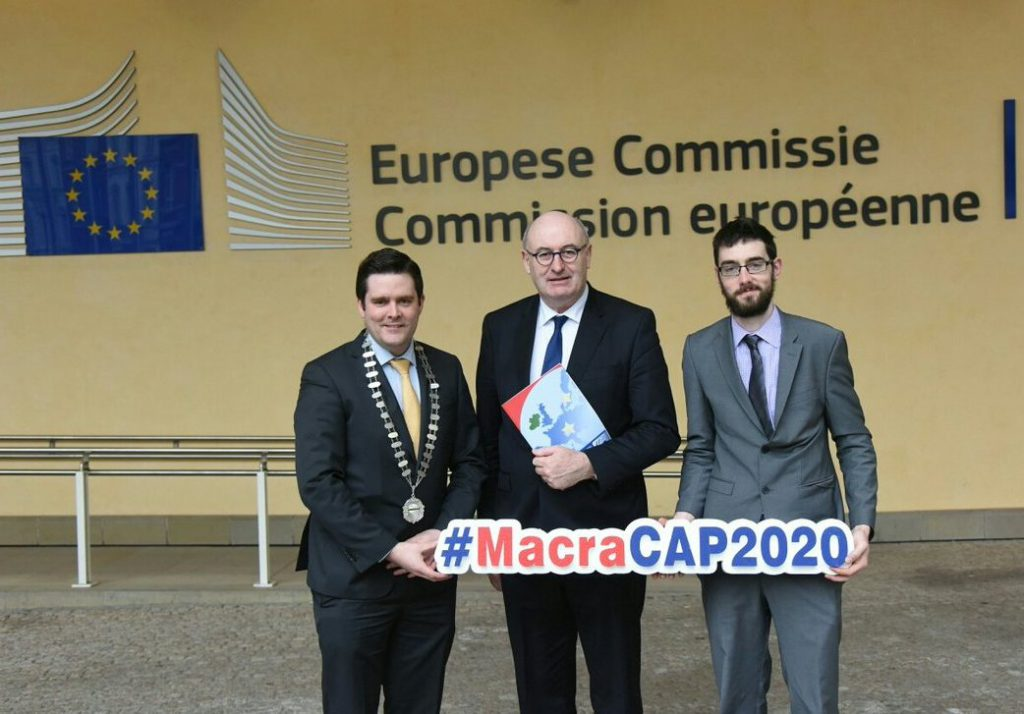 Macra President Sean Finan, Commissioner Phil Hogan and Thomas Duffy,